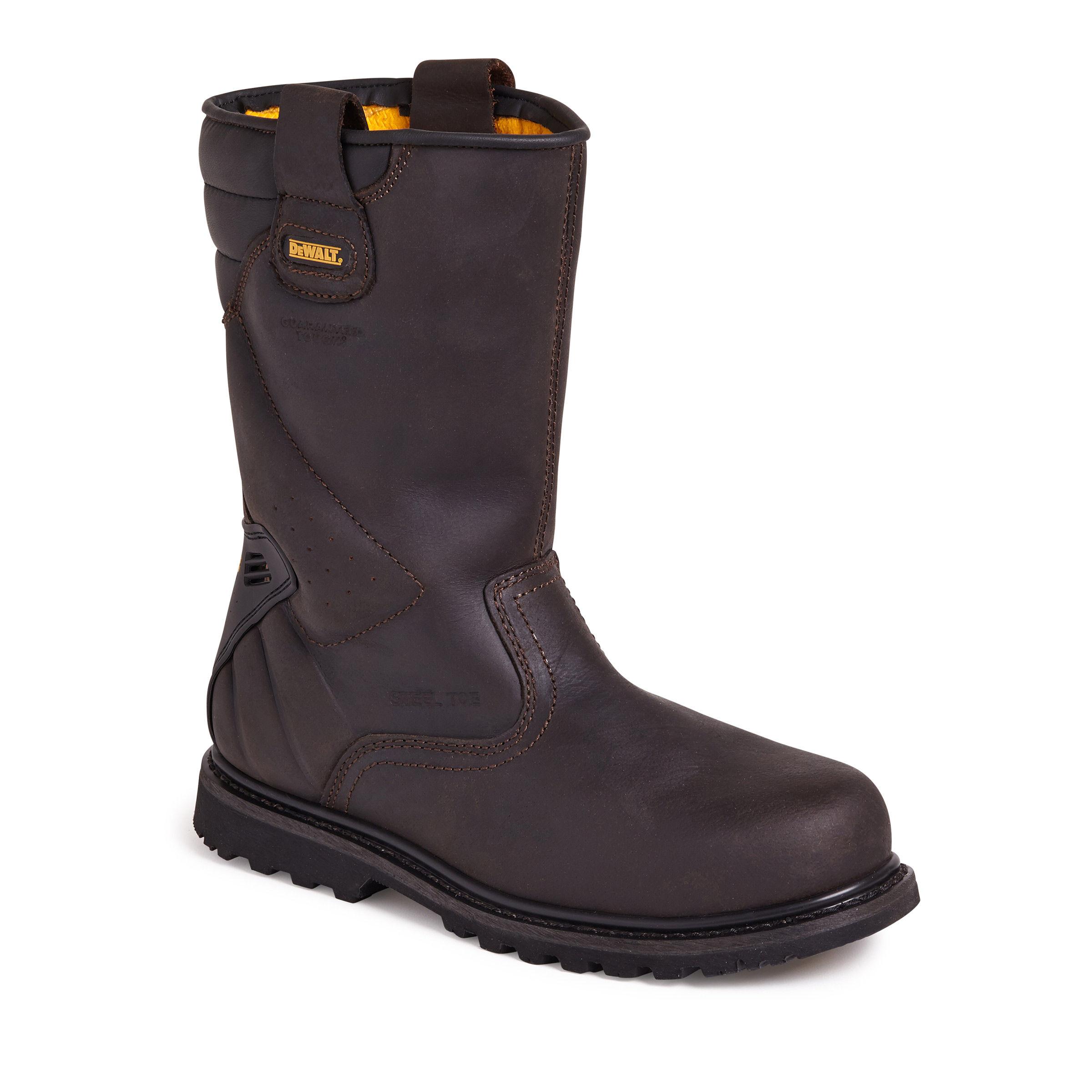 197d7c32933f71 Dewalt Dewalt Tungsten Waterproof Rigger Safety Boot 200 Joule Toecap in  Brown - Size 9 @20361