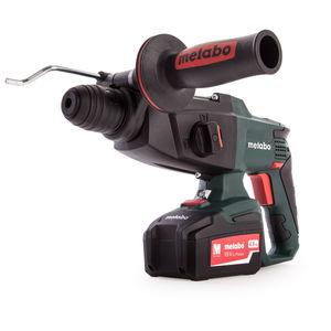 Metabo KHA 18 LTX Set SDS Hammer, ASC30-36 Charger (3 x 4.0Ah Batteries)