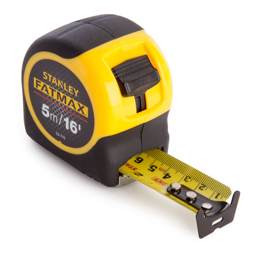 Stanley 0-33-719  Metric/Imperial FatMax Blade Armor Tape Measure with 32mm Blade 5m / 16ft