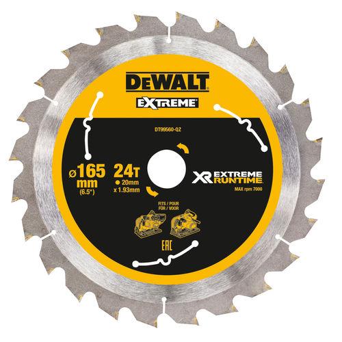 Dewalt DT99560 XR Extreme Runtime Mitre Saw Blade 165mm x 20mm x 24T