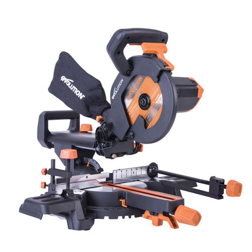 Evolution R210SMS+ 210mm Single-Bevel Sliding Compound Mitre Saw 240V