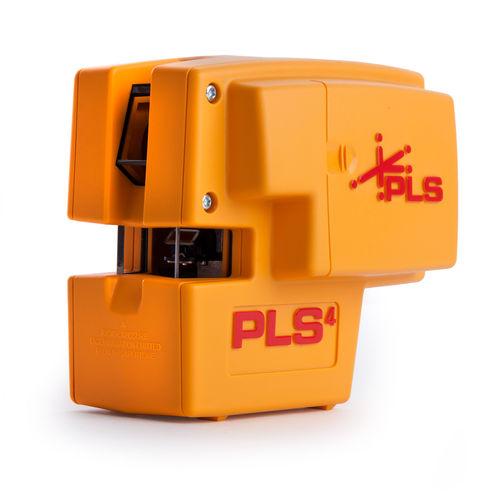 PLS PLS4 Cross Line and Plumb Laser Level Tool (PLS 60574)