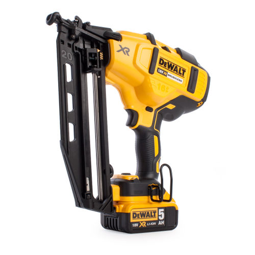 Dewalt DCN660P2 18V XR Cordless li-ion Brushless 2nd Fix Nailer 16Ga (2 x 5Ah Batteries)