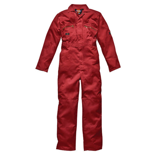 "Dickies WD4839 Front Zip Redhawk Coverall - Red 50"" Long"