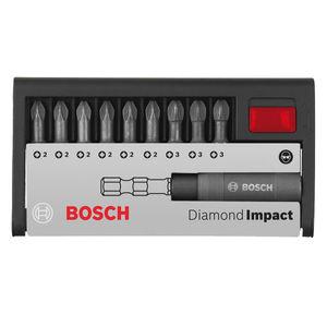 Bosch 2608522065 Diamond Impact Screwdriver Bit Set (10 Piece)