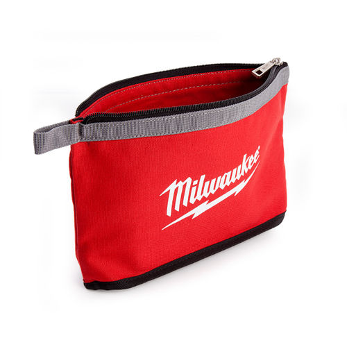 Milwaukee Zippered Contractors Pouch with Grey Flashing