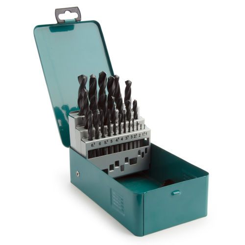 Makita D-54097 Assorted HSS-R Set in Metal Case (25 Piece)