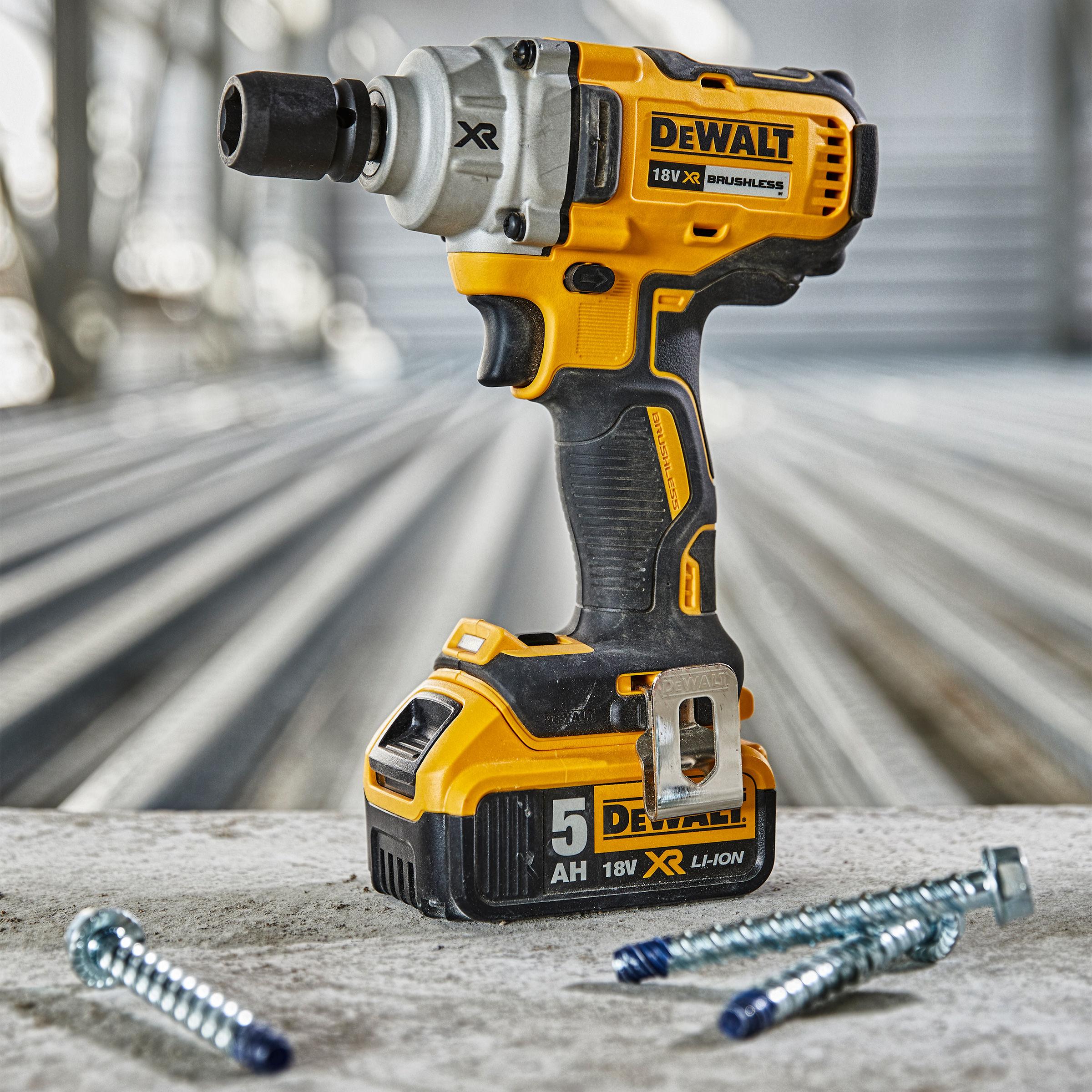 Dewalt Dcf894p2 Impact Wrench High Torque 18v Xr Cordless Brushless 2 X 5 0ah Batteries