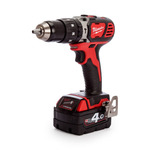 Milwaukee M18 BPD-402C Combi Drill 18V Charger and Case (2 x 4.0Ah Batteries)