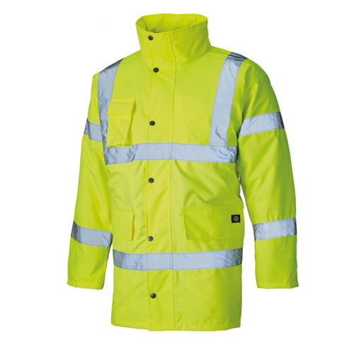 Dickies SA22045 Hi Vis Motorway Safety Jacket Yellow - Small
