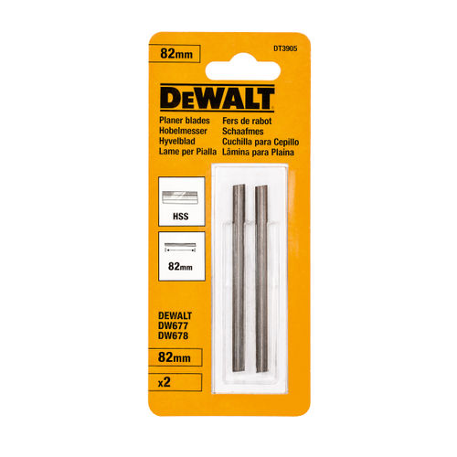 Dewalt DT3905 HSS Planer Blades 82mm (Pack Of 2)