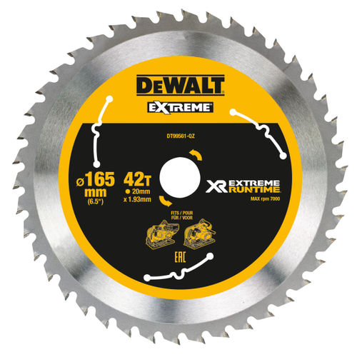 Dewalt DT99561 XR Extreme Runtime Mitre Saw Blade 165mm x 20mm x 42T