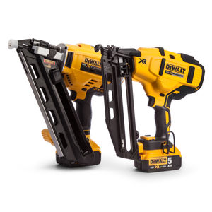 Dewalt DCK264P2 18V XR Nailer Twinpack in Tough Box (2 x 5.0Ah Batteries)