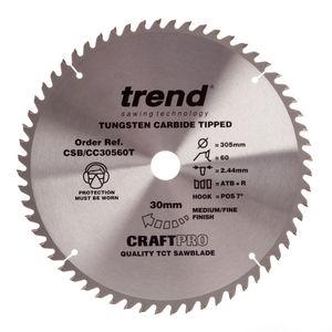Trend CSB/CC30560T CraftPro Saw Blade Crosscut 305mm x 60 Teeth x 30mm