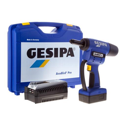 Gesipa 7320001 Accubird Pro 18V li-ion Cordless Riveting Tool (1 x 2.1Ah Battery)
