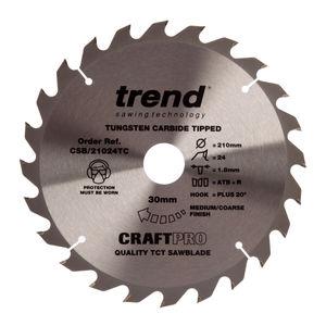 Trend CSB/21024TC CraftPro Saw Blade 210mm x 24 Teeth x 30mm