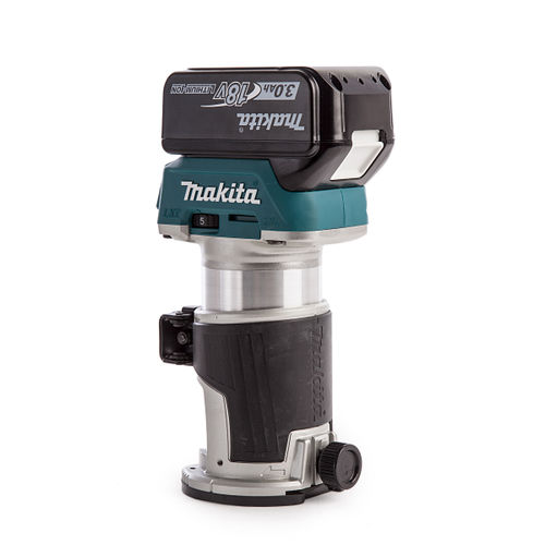 Makita DRT50 18V Cordless Router/Trimmer with DC18RC Charger in Makpac Case (2 x 3.0Ah Batteries)