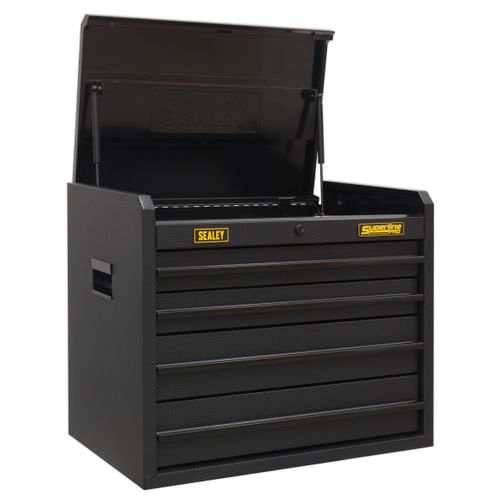Sealey AP2604CF Topchest 4 Drawer With Ball Bearing Slides - Carbon Fibre Effect Limited Edition
