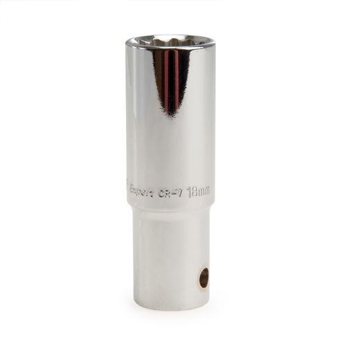 Draper 28265 (HT-MMB) Expert 18mm 1/2in Square Drive Deep Hi-Torq 12 Point Socket
