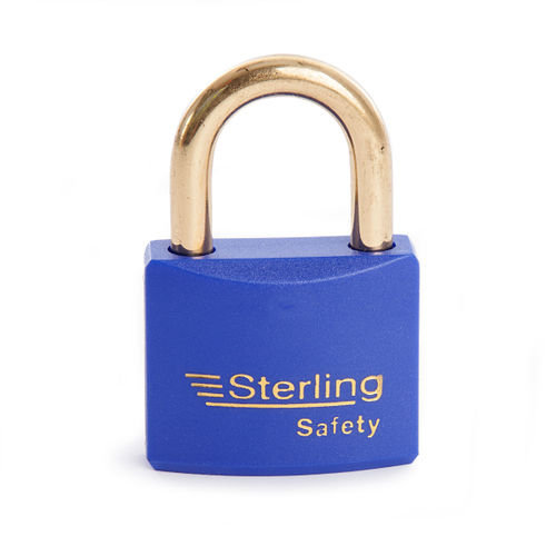 Sterling BL4BL Safety Lockout Padlocks 40mm Double Locking KA5 Blue