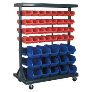 Sealey TPS94 Mobile Bin Storage System With 94 Bins