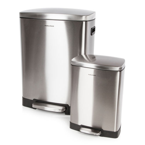 Morphy Richards 977100 Pro 50 Litre and 12 Litre Rectangular Bins