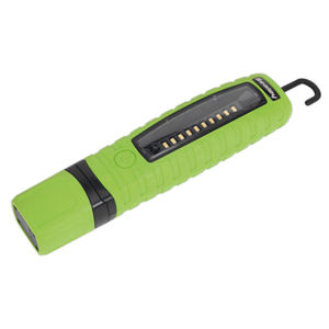 Sealey LED360G Cordless 360° 10 SMD + 3w LED Rechargeable Inspection Lamp Green Lithium-ion