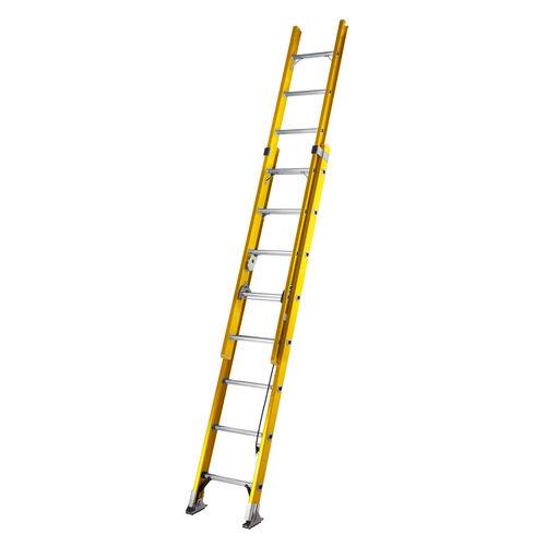 Youngman 527808 S200 Fibreglass Trade 2 Section Extension Ladder 2.45 - 3.90 Metres