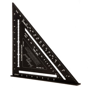 Johnson JL1904-1200 Johnny Square Professional Aluminum Rafter Angle Square 12 Inch