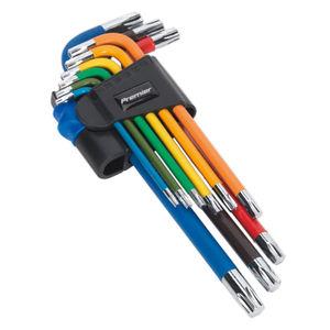 Sealey AK7193 Trx-star Key Set 9pc Colour-coded Long