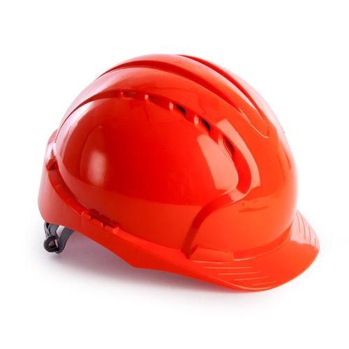 JSP AJF030 EVO2 Safety Helmet with Slip Ratchet - Vented - Orange