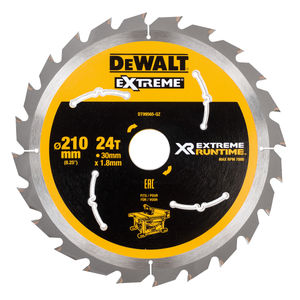 Dewalt DT99565 XR Extreme Runtime Table Saw Blade 210mm x 30mm x 24T
