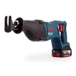 Bosch GSA18V-LI 18V Cordless Reciprocating Saw + AL1860CV Charger in L-Boxx (2 x 4.0Ah Batteries)