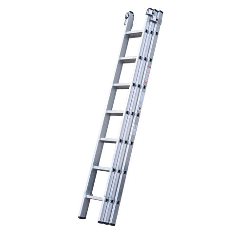 Youngman 570011 DIY 100 3 Section Extension Ladder 2.21 - 5.11 Metres