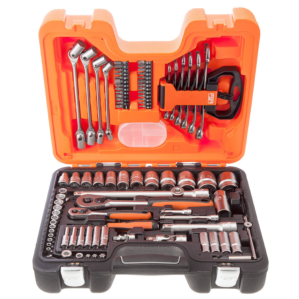 Toolstop Bahco S910 91 Piece Socket Set 1/4 Inch, 1/2 Inch and Dynamic Drive