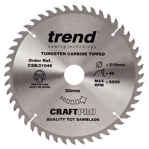 Trend CSB/21048 CraftPro Saw Blade 210mm x 48 Teeth x 30mm