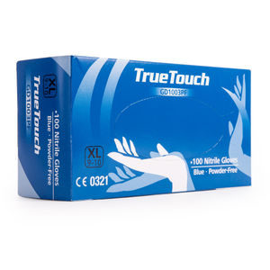 True Touch GD1003PF Nitrile Gloves Pack of 100 Blue Extra Large