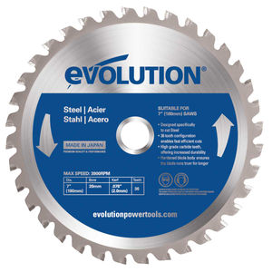 Evolution EVOBLADEST TCT Saw Blade for Mild Steel 180mm - 36 Teeth