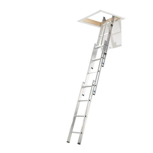 Werner 76003 Loft Ladder With Handrail (3 Section)