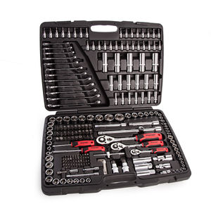 "Sealey AK7956 Socket Set 1/4"", 3/8"", 1/2""Sq Drive 6pt WallDrive Metric (216 Piece)"