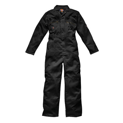 "Dickies WD4839 Front Zip Redhawk Coverall - Black 40"" Long"