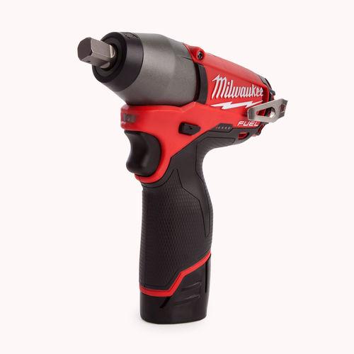 "Milwaukee M12CIW12-202C M12 Fuel Compact Impact Wrench 1/2"" Reception (2 x 2.0Ah Li-ion Batteries)"