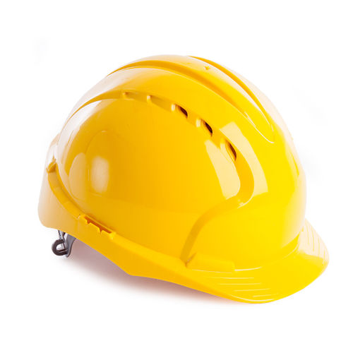 JSP AJF030 EVO2 Safety Helmet with Slip Ratchet - Vented - Yellow