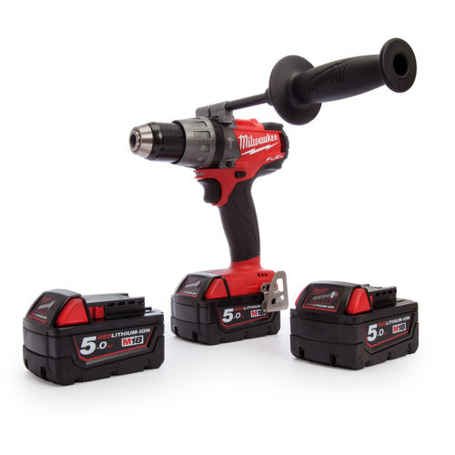 Milwaukee M18 Fuel FPD-503X Combi Drill (3 x 5.0Ah Batteries)