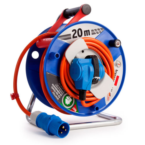 Brennenstuhl 1182470 Garant Cable Reel for Camping, Yacht, and Marina 20 Metres 240V