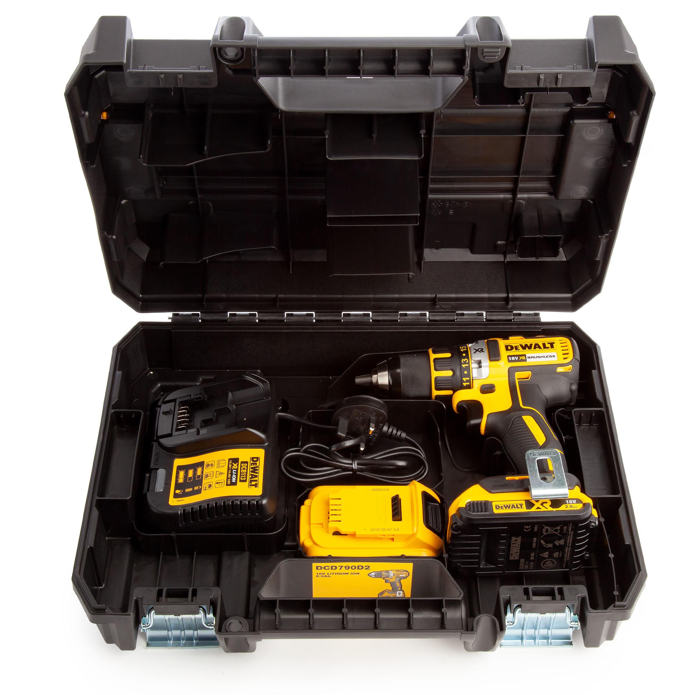 Underbar Toolstop Dewalt DCD790D2 18V XR Brushless Compact Drill Driver (2 PZ-77