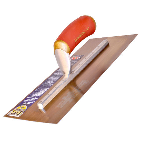 Marshalltown MPB13GSD Gold Stainless Steel Plasterers Trowel 13 x 5 Inch
