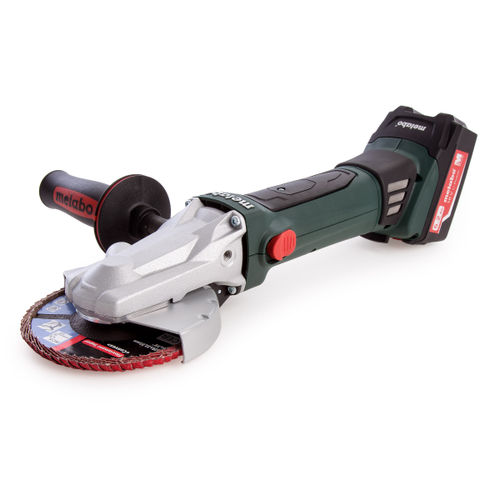 Metabo WF 18 LTX 125 Quick Flat Head Angle Grinder (2 x 5.2Ah Batteries)