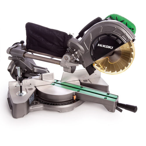 HiKOKI C8FSE Slide Compound Mitre Saw 216mm / 8. 1/2 Inch with 2 Blades 240V