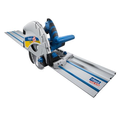 Scheppach PL75-P1 210mm Plunge Saw + 1400mm Guide Rail 240V